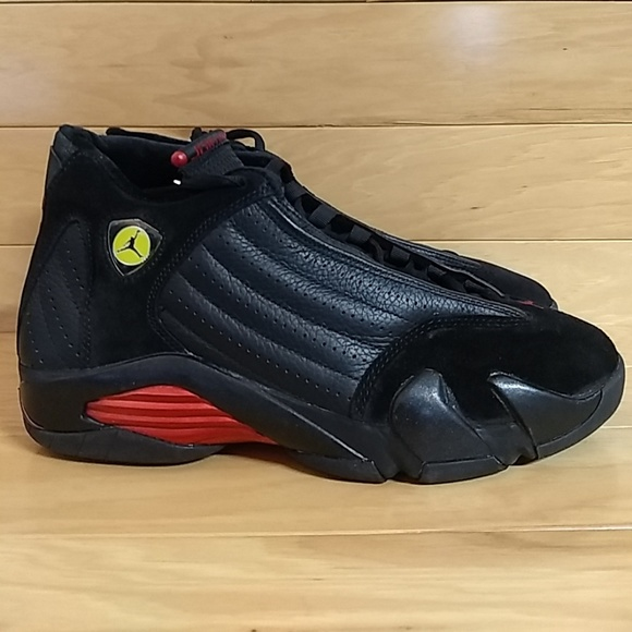 sports shoes c4725 f80a6 Air Jordan 14 Retro Last Shot Black Red 311832-002 NWT